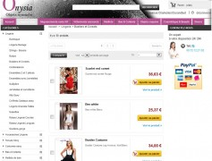 Onysia – site E-Commerce de lingerie