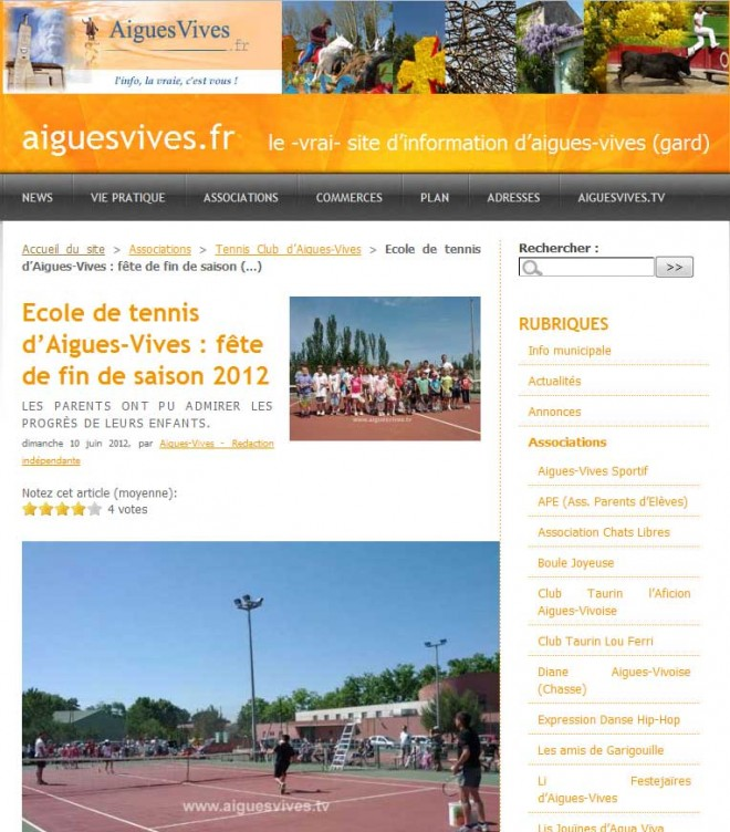 Magazine d'information du village d'Aigues-Vives