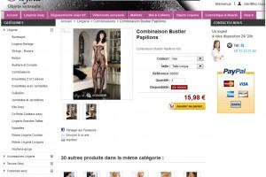 Onysia, site E-Commerce de lingerie sexy