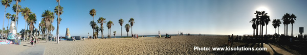 Photo panoramique de Venice Beach (Los Angeles)
