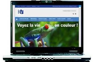 Site en responsive design vu un écran d'ordinateur portable