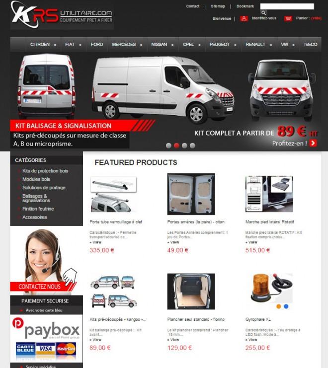 KRS Utilitaires – Site e-commerce de Kits de protection pour véhicules utilitaires